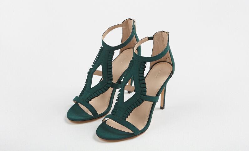 Sandali con i tacchi alti verde abete