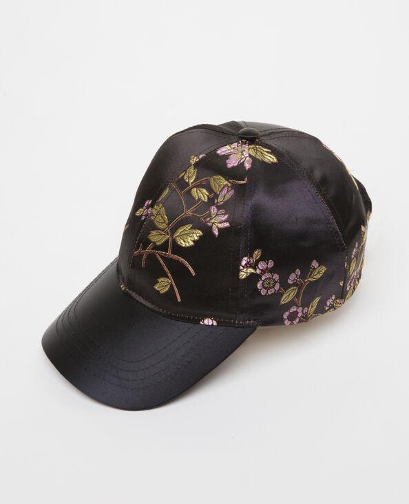 Cappellino con ricami nero