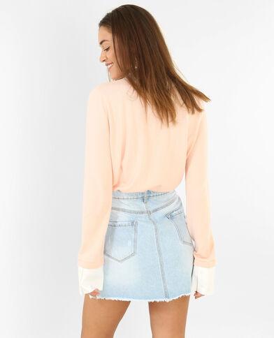 Pull camicia rosa