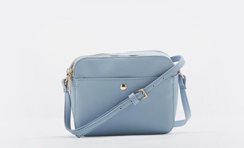 Piccola borsa boxy blu