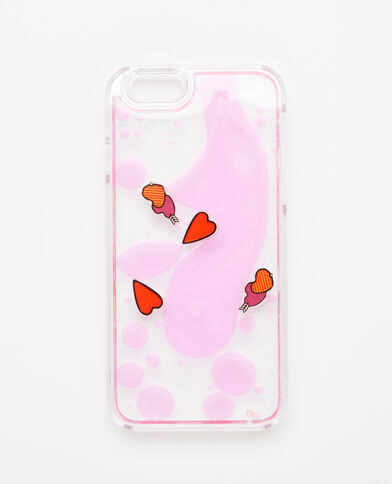 Custodia cuori compatibile iPhone 6/6S rosa