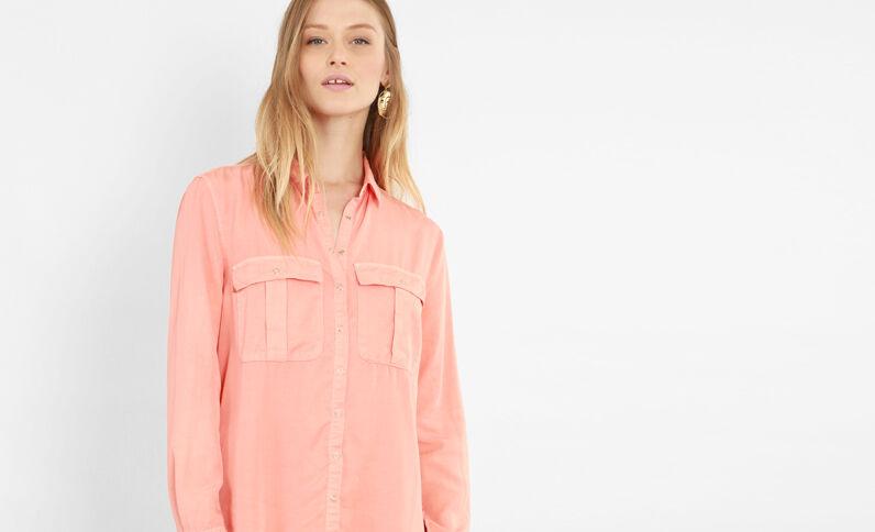 Abito camicia arancio