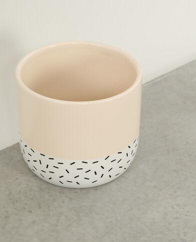 Vaso in ceramica beige rosato
