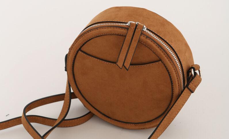 Piccola borsa rotonda caramello