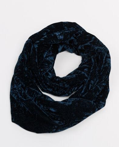 Sciarpa collo velluto goffrato blu marino
