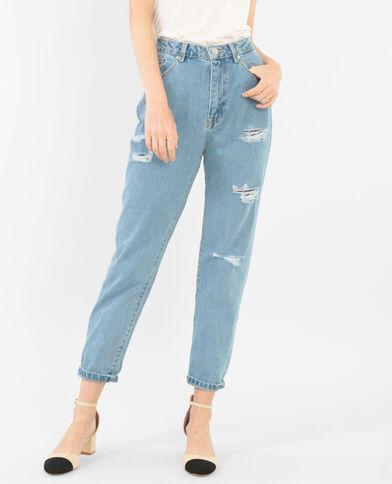 Jeans mum blu denim