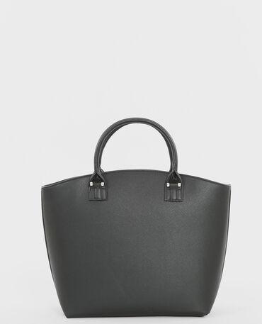 Grande borsa rigida nero