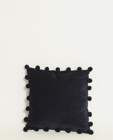 Federa per cuscino effetto velluto blu