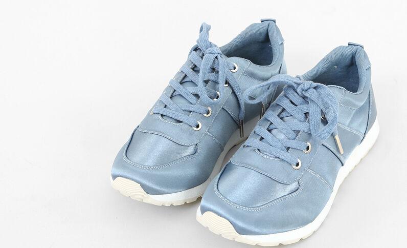Scarpe da basket satinate blu