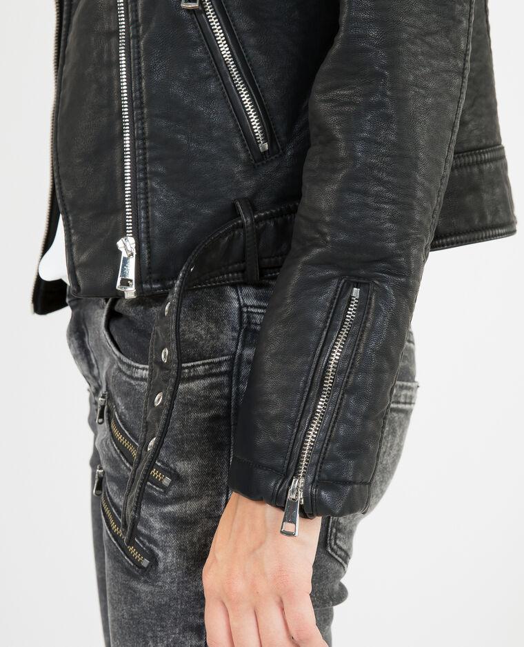 Giacca da motociclista opaca nero