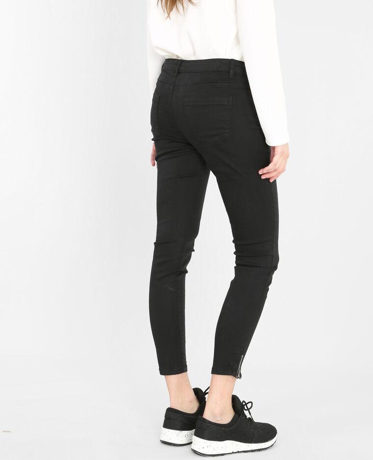 Skinny con zip nero
