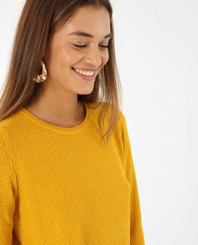 Pull maglia fantasia giallo mostarda