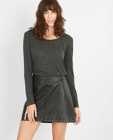 T-shirt maglia chiné grigio