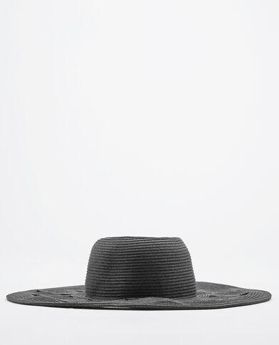Cappello a tesa larga in paglia nero