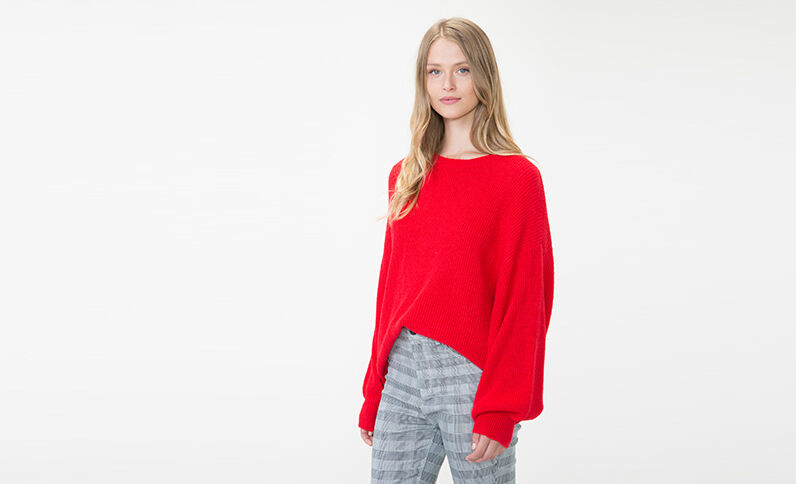 Pull oversize Rosso