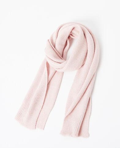Sciarpa in maglia rosa fucsia