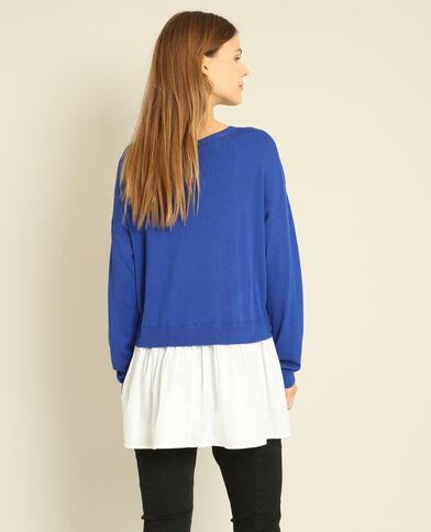 Pull camicia blu