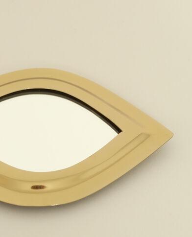 Piccolo specchio a forma di occhio dorato