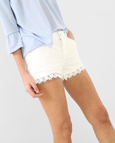 Short guipure bianco