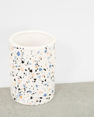 Vaso graniglia bianco