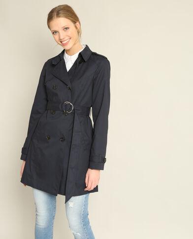 Trench-coat classico blu marino