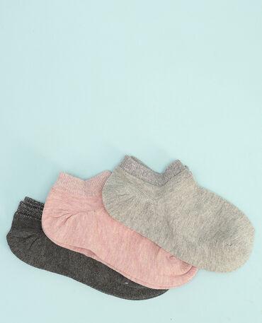 Lotto di calze invisibili lurex rosa