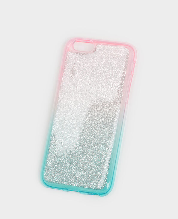 Custodia compatibile iPhone glitter blu