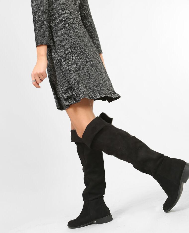 Stivali a mezza coscia nero