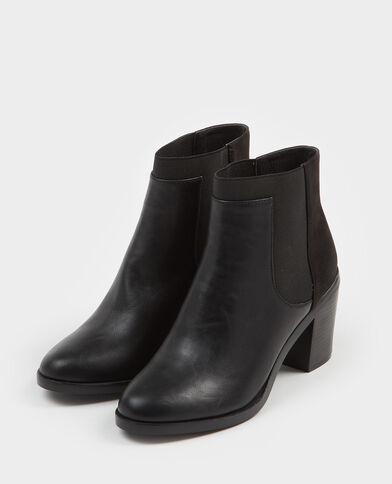 Boots bimateriale nero
