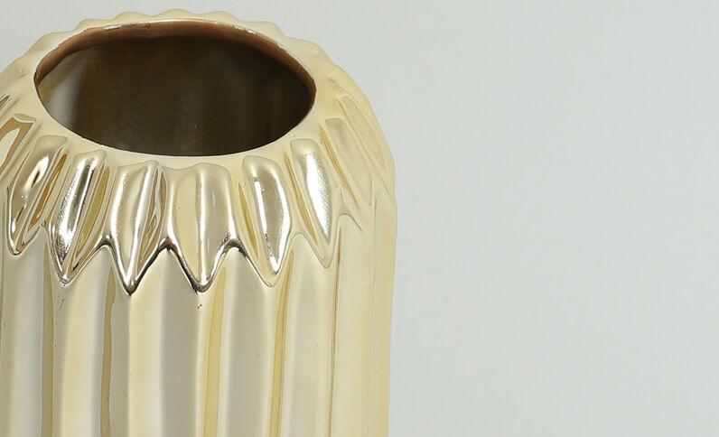 Grande vaso striato dorato