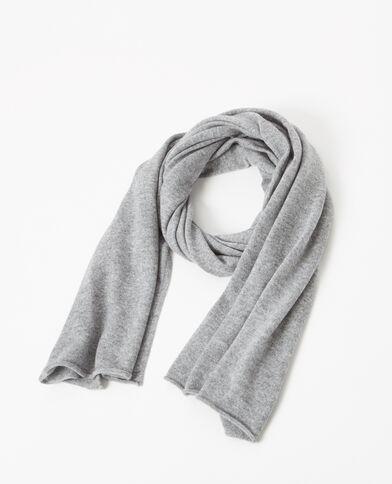 Sciarpa 100% cachemire grigio chiné