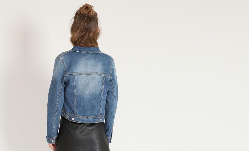 Giacca in jeans corta blu
