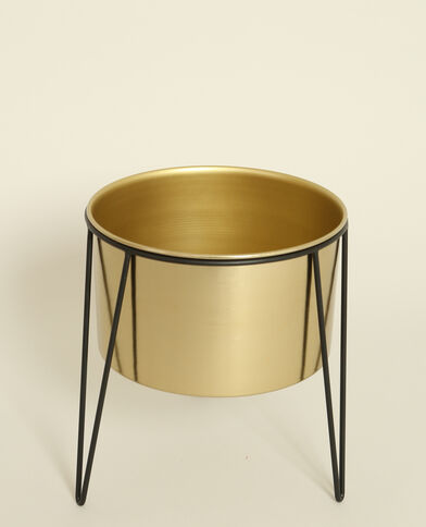 Grande vaso con gambe dorato