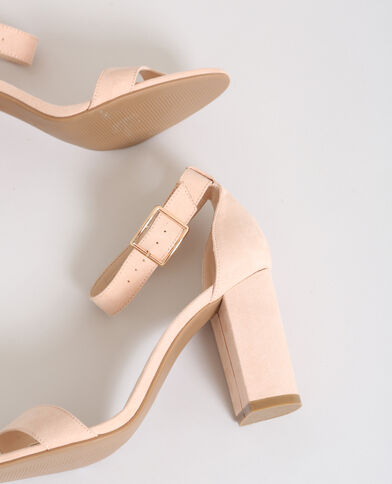 Sandali con i tacchi rosa cipria