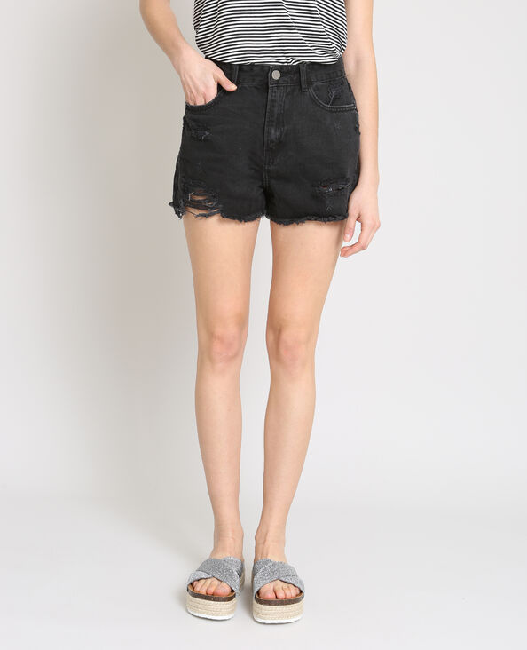 Short in jeans destroy nero