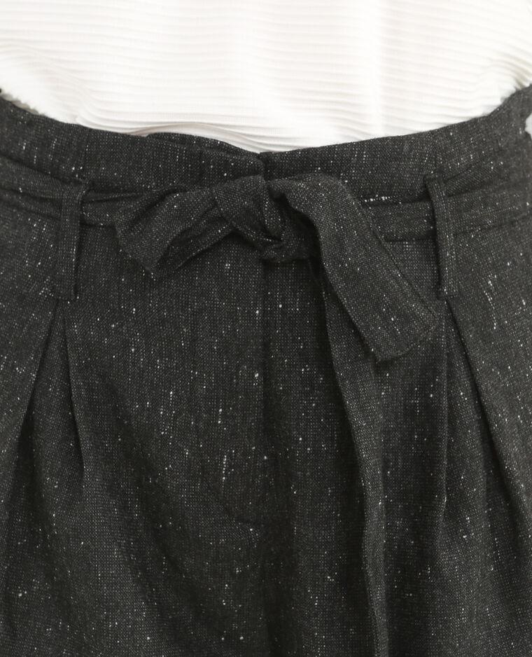 Short carrot con cintura grigio