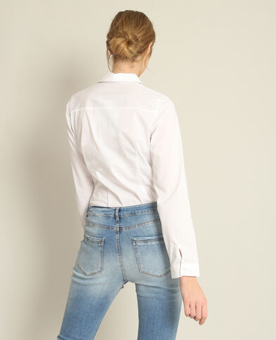 Camicia tinta unita bianco