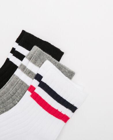 Lotto di calze con fasce grigio