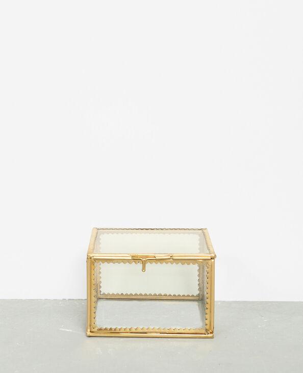 Scatola in vetro e metallo dorato