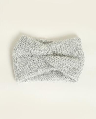 Headband incrociata grigio