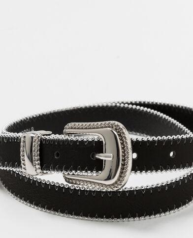 Cintura bicolore nero