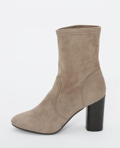 Boots effetto pelle marrone