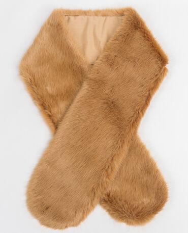 Collo pelliccia ecologica beige