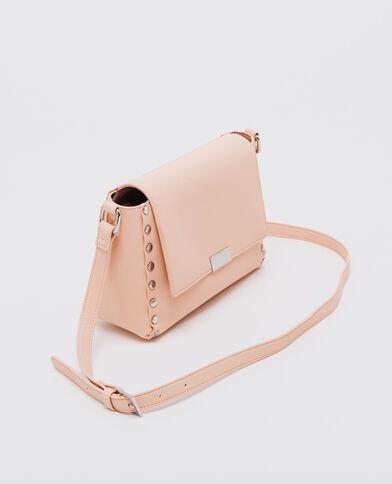 Borsa con borchie rosa cipria