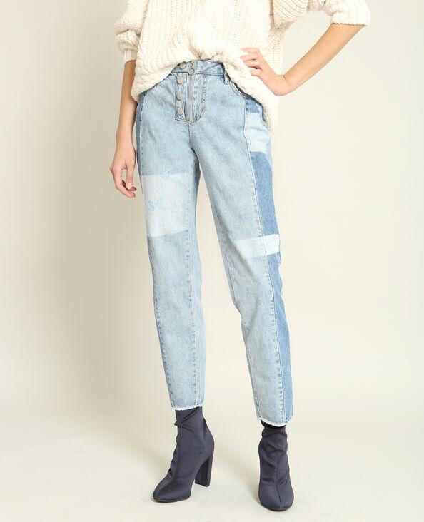 Jeans skinny mid waist blu cielo
