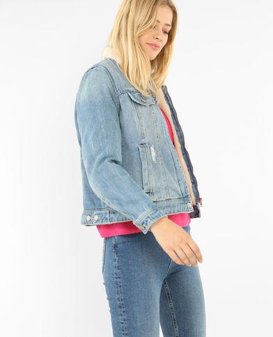 Giubbotto in jeans blu denim