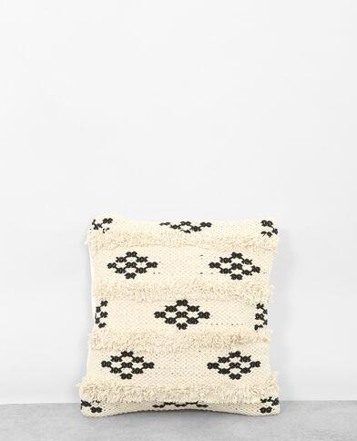 Federa per cuscino tessuto rombi bianco sporco