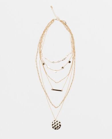 Collana multifili dorato
