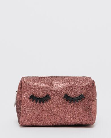 Trousse make up glitter eyes granata