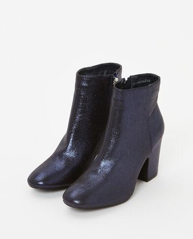 Boots con i tacchi iridati blu